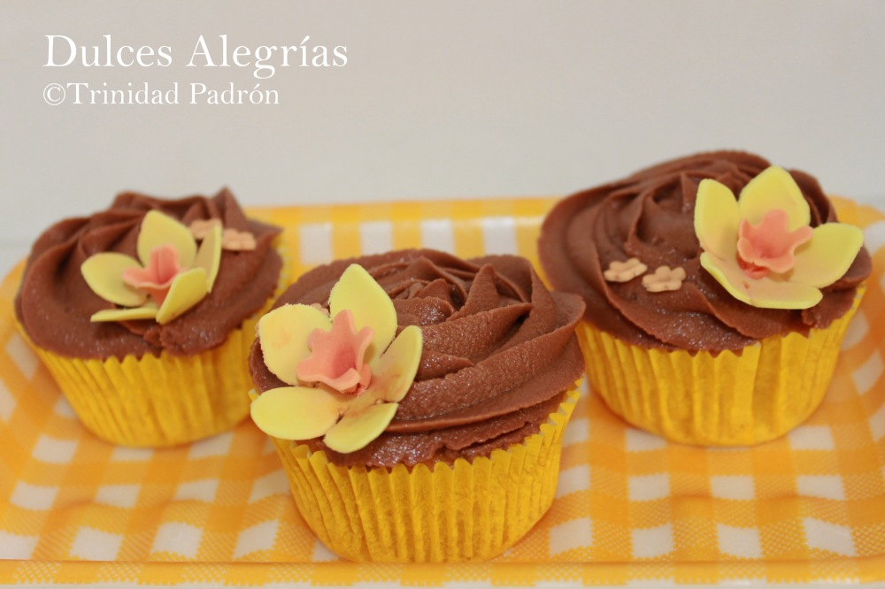 ©Trinidad Padrón Cupcakes de vainilla con glaseado de chocolate