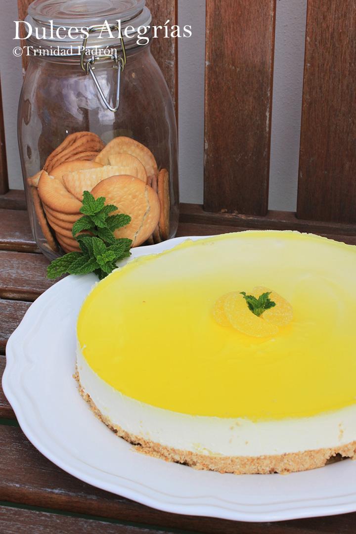 ©Trinidad Padrón Tarta de queso con gelatina de limón