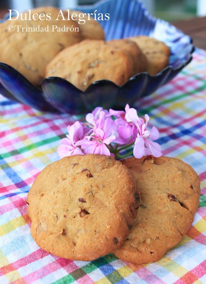 ©Trinidad Padrón Cookies de chocolate blanco y nueces pacanas