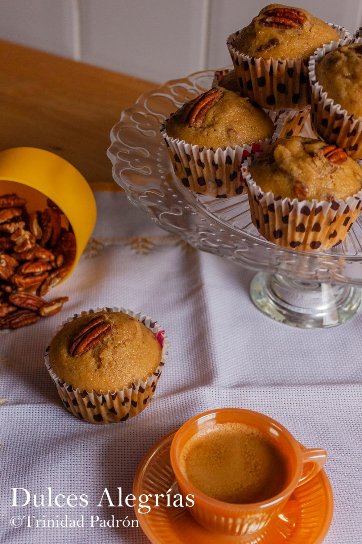 ©Trinidad Padrón Muffin de nueces pecanas y sirope de arce