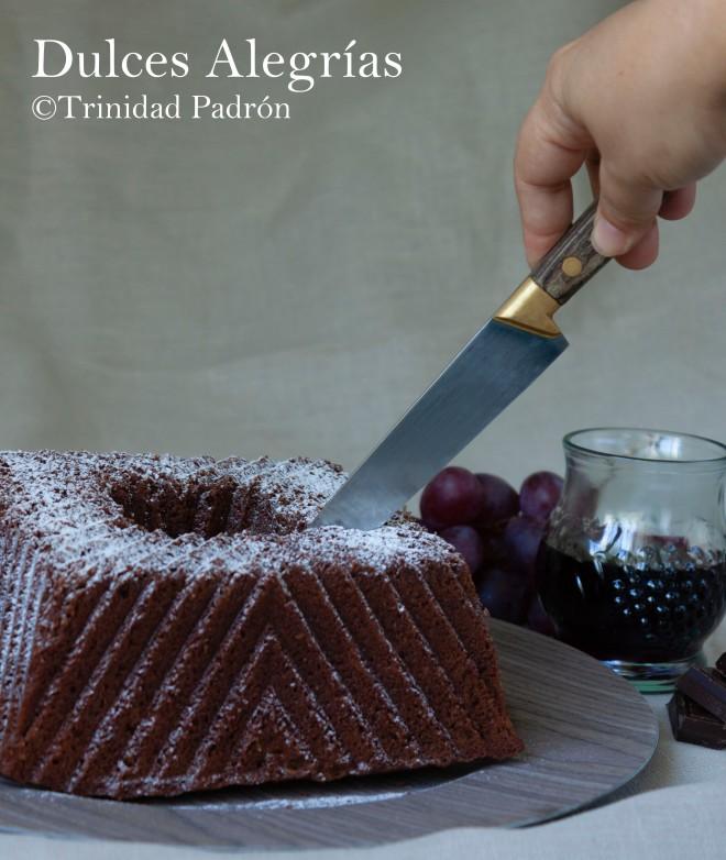 ©Trinidad Padrón Bundt cake de vino y chocolate 19 de noviembre de 2018