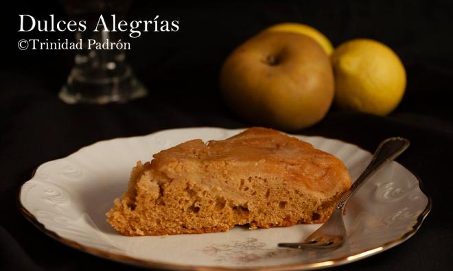 ©Trinidad Padrón Tarta de manzana invertida con sirope de arce 07 de noviembre de 2018